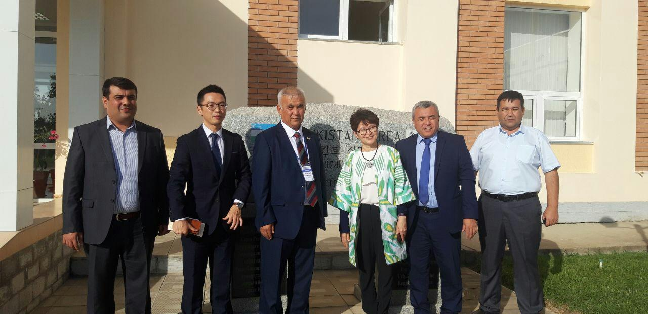 Visit of Mrs. Bek Seyuk Xi vice President of the Headquarters of the KOICA International Cooperation Agency